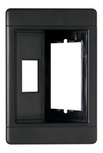 Single-Gang Recessed TV Box (Frame Only), Black