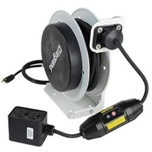 1000 Series Cable Reel with Locking Single Outlet, 15 Amp, 12 AWG, 35 Feet