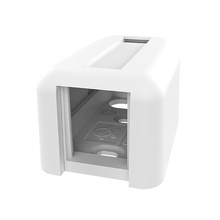 TRACJACK PLASTIC SURFACE MOUNT BOX FOR ONE 1 UNIT MODULE SINGLE SIDED  WITH COVER, WHITE