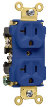 Industrial Extra Heavy-Duty Spec Grade Receptacles, Back & Side Wire, 20A, 125V, Blue