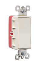 PlugTail® Three-Way 20 Amp Decorator Switch, Light Almond