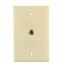 Basic 3GHz Coax Wallplate, Light Almond