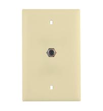 Basic 3GHz Coax Wallplate, Light Almond