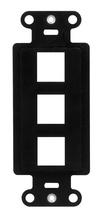 3-Port Decorator Outlet Strap, Black