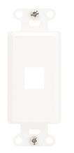 1-Port Decorator Outlet Strap, White, 10-Pack