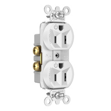 Hard-Use Spec Grade Plug Load Controllable Receptacle, 15A, 125V, White