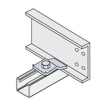 Aluminum Expansion Guide Clamp w/Zinc-Plated Steel (10/BAG) (TRA)