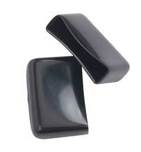 Protective Rubber End Caps, Black, 1 1/2'' Stringer