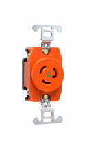 15 Amp NEMA L715 Single Receptacle, Orange, Isolated Ground