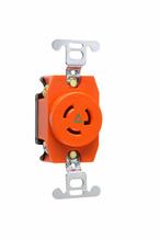 15 Amp NEMA L715 Single Receptacle, Orange, Isolated Ground