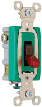Industrial Extra Heavy-Duty Specification Grade Switch, Lighted When On, Back & Side Wire, Red
