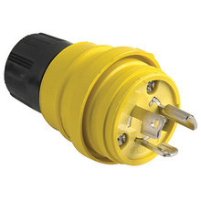 24W34 Watertight NEMA 4X/6P Locking Plug,Yellow