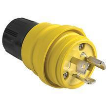 24W34 Watertight NEMA 4X/6P Locking Plug,Yellow