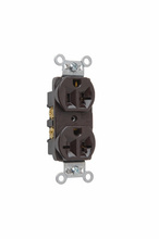 Hard Use Spec Grade Combination Receptacle, Side Wire, 20A, 125/250V, Brown
