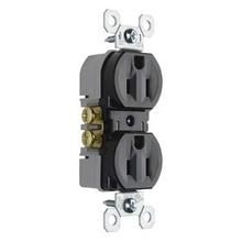 Discontinued | 15A/125V NAFTA-Compliant TradeMaster® Tamper-Resistant Duplex Receptacle, Black | No sub
