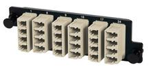 6-LC Quad (24 fibers) OM1, beige adapters with Phosphorus Bronze alignment sleeves
