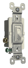 15A,120V TradeMaster® Self-Grounding/3-Way Toggle Switch, White