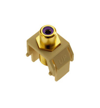 Purple RCA to F-Connector, Ivory
