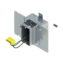 4'' Square Box with 1-Gang Adj. Plaster Ring and 1 Grounded PlugTail Switch Connector with protective mud cover - Box of 10 [EF000065]