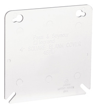 4 Inch Square Flat Blank Cover, White