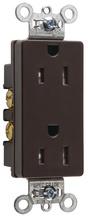 TR26252 Tamper-Resistant Decorator Spec Grade Receptacle, Back & Side Wire, 15A, 125V, Brown