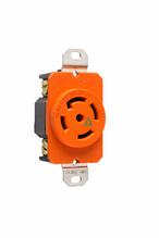 30 Amp NEMA L2330 Single Receptacle, Orange, Isolated Ground