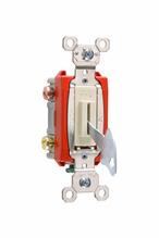 Industrial Extra Heavy-Duty Specification Grade Lock Switch Back & Side Wire, Ivory