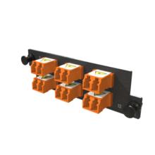 Infinium M4 HDFP Adapter Panel, 6 Keyed Front Non-Keyed Rear LC Duplex Adapters, 12 Fiber, Orange