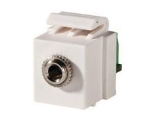 Keystone, 3.5mm Stereo Jack, Screw Terminal, Fog White