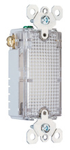 TradeMaster Full Hallway Decorator Light for use with P&S Metal Louver Plates, Clear