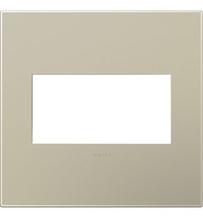 adorne® Titanium Two-Gang Screwless Wall Plate