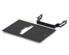 Outdoor Ground Box Cover Plate Kit, Black