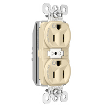 PlugTail® Tamper-Resistant Heavy-Duty Spec Grade Plug Load Controllable Receptacle, 15A, 125V, Ivory