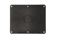 2-Gang Blank Cover Plate, Black