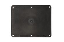 2-Gang Blank Cover Plate, Black