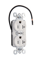 PlugTail® Tamper-Resistant Split Circuit Spec Grade Receptacle, 20A, 125V, White