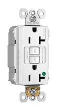 PlugTail® NAFTA-Compliant Hospital-Grade Tamper-Resistant 20A Self-Test Duplex GFCI, White