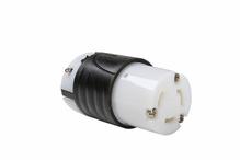 30 Amp Non-NEMA 3 Wire Connector - Black Back, White Front Body
