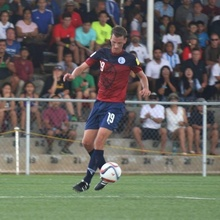 Jan Willem playing in the Guam National Soccer Team