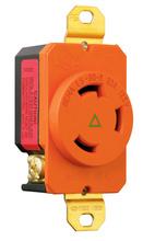 30 Amp NEMA L530 Single Receptacle, Orange, Isolated Ground