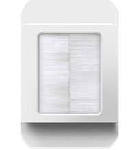In-Wall Cable Access Port, White
