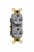 Weather-Resistant Heavy-Duty Spec Grade Receptacles, Back & Side Wire, 20A, 250V, Gray
