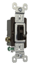 15A,120V TradeMaster® Self-Grounding/3-Way Toggle Switch, Brown