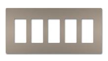 radiant® Five-Gang Screwless Wall Plate
