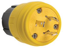 26W49 Watertight NEMA 4X/6P Locking Plug,Yellow