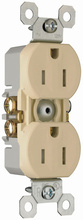 15A/125V TradeMaster® Self-Grounding, Tamper-Resistant Duplex Receptacle, Ivory