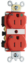 15A Heavy-Duty Power Indicating Hospital-Grade Receptacle, Red