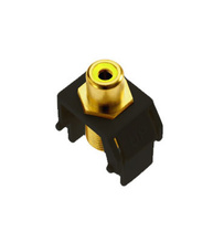Yellow RCA to F-Connector, Black