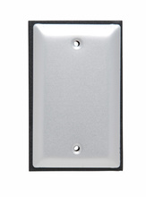 One Gang Blank Cover, Brushed Aluminum