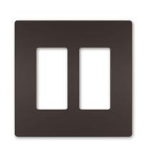 radiant® Two-Gang Screwless Wall Plate Dark Bronze